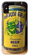 Mardi Gras Beer 1983 IPhone Case