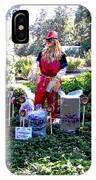 Mardi Gras Scarecrow At Bellingrath Gardens IPhone Case