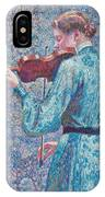 Marie Anne Weber Playing The Violin  IPhone Case