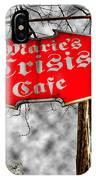 Marie's Crisis Cafe IPhone Case