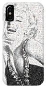 Marilyn Monroe In Mosaic IPhone Case