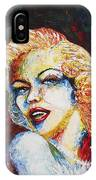 Marilyn Monroe Original Palette Knife Painting IPhone Case