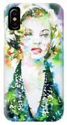 Marilyn Monroe Portrait.1 IPhone Case