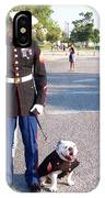 Marine And Bulldog IPhone Case
