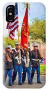 Marine Color Guard - Paint IPhone Case