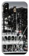 Mark Twain Riverboat Frontierland Disneyland Vertical Sc IPhone Case