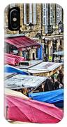 Market Day In Sarlat IPhone Case