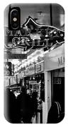 Market Grill In Pike Place Market IPhone Case