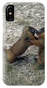 4m09150-02-marmot Fight IPhone Case