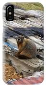 Marmot Resting On A Railroad Tie IPhone Case
