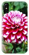 Maroon And White Flower IPhone Case