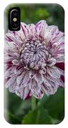 Maroon Speckled Dahlia IPhone Case
