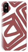 Marsala Envelopes- Abstract Pattern IPhone Case