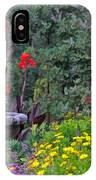 Garden Fountain And Flowers IPhone Case