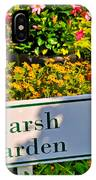 Marsh Garden Sign And Flowers IPhone Case