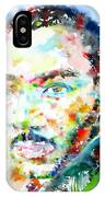 Martin Luther King Jr. - Watercolor Portrait IPhone Case