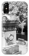 Mary And John Tyler Memorial Near Infrared Black And White IPhone Case