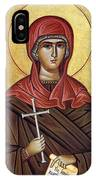 Mary With The Cross IPhone Case