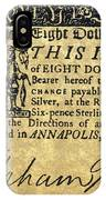 Maryland Bank Note, 1774 IPhone Case