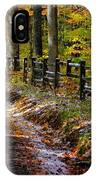 Maryland Country Roads - An Early Kiss Of Winter IPhone Case