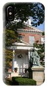 Maryland State House And Statue IPhone Case