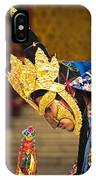 Masked Lama Performing Ritual Dance IPhone Case