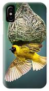 Masked Weaver At Nest IPhone Case