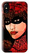 Masked Woman IPhone Case