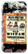 Mass Meeting At Tammany Hall IPhone Case