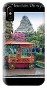 Matterhorn Mountain Disneyland Collage IPhone Case