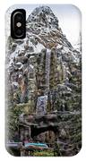 Matterhorn Mountain With Bobsleds At Disneyland IPhone Case