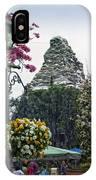 Matterhorn Mountain With Flowers At Disneyland IPhone Case