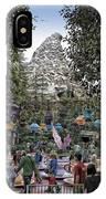 Matterhorn Mountain With Tea Cups At Disneyland IPhone Case