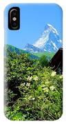 Matterhorn With Mountain Chalet IPhone Case