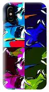 Max Two Stars In Pf Quad Colors IPhone Case