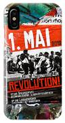 May Day 2012 Poster Calling For Revolution IPhone Case