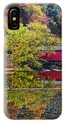 Mcconnell's Mill And Covered Bridge IPhone Case