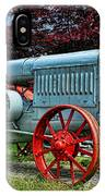 Mccormick Deering Red-wheeled Tractor IPhone Case