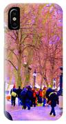 Mcgill Campus Eager Students Enter Roddick Gates Montreal Collectible Art Prints Carole Spandau  IPhone Case