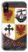 Mcintyre Coat Of Arms IPhone Case