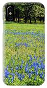 Meadows Of Blue And Yellow. Texas Wildflowers IPhone Case