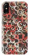 Mechanic Geometric Circle Segment Pattern IPhone Case