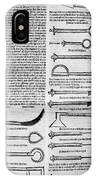 Medical Instruments, 1531 IPhone Case