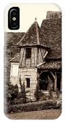 Medieval Cottage In Sarlat Sepia IPhone Case