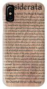 Medieval Desiderata On Mars Stone IPhone Case
