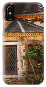Medieval Window And Rose Bush In Germany IPhone Case