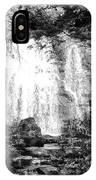 Meigs Falls Smoky Mountains Bw IPhone Case