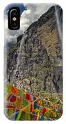 Meili Mountain Sacred Waterfall IPhone Case