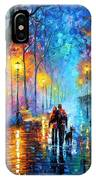 Melody Of The Night - Palette Knife Landscape Oil Painting On Canvas By Leonid Afremov IPhone Case