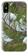 Melting Snow In The Pines IPhone Case